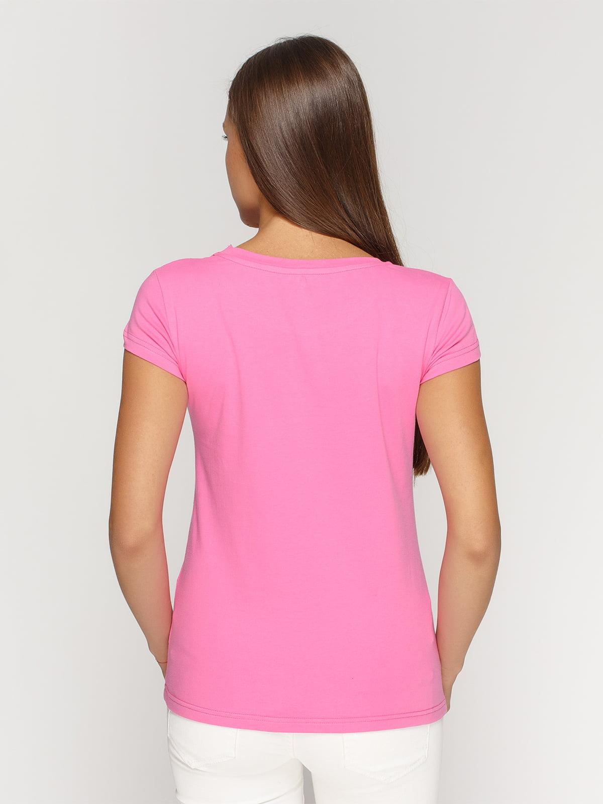 Футболка рожева з принтом | 4578572 | фото 2