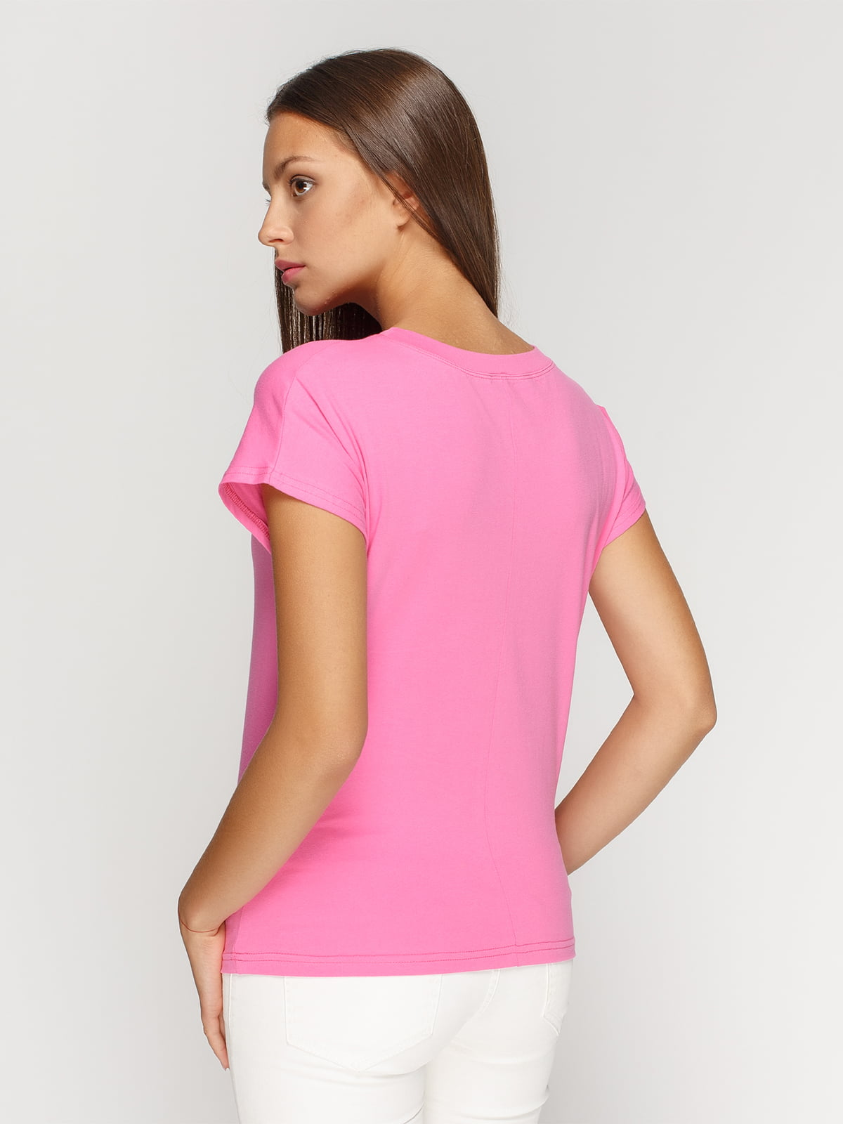 Футболка рожева з принтом | 4578123 | фото 2
