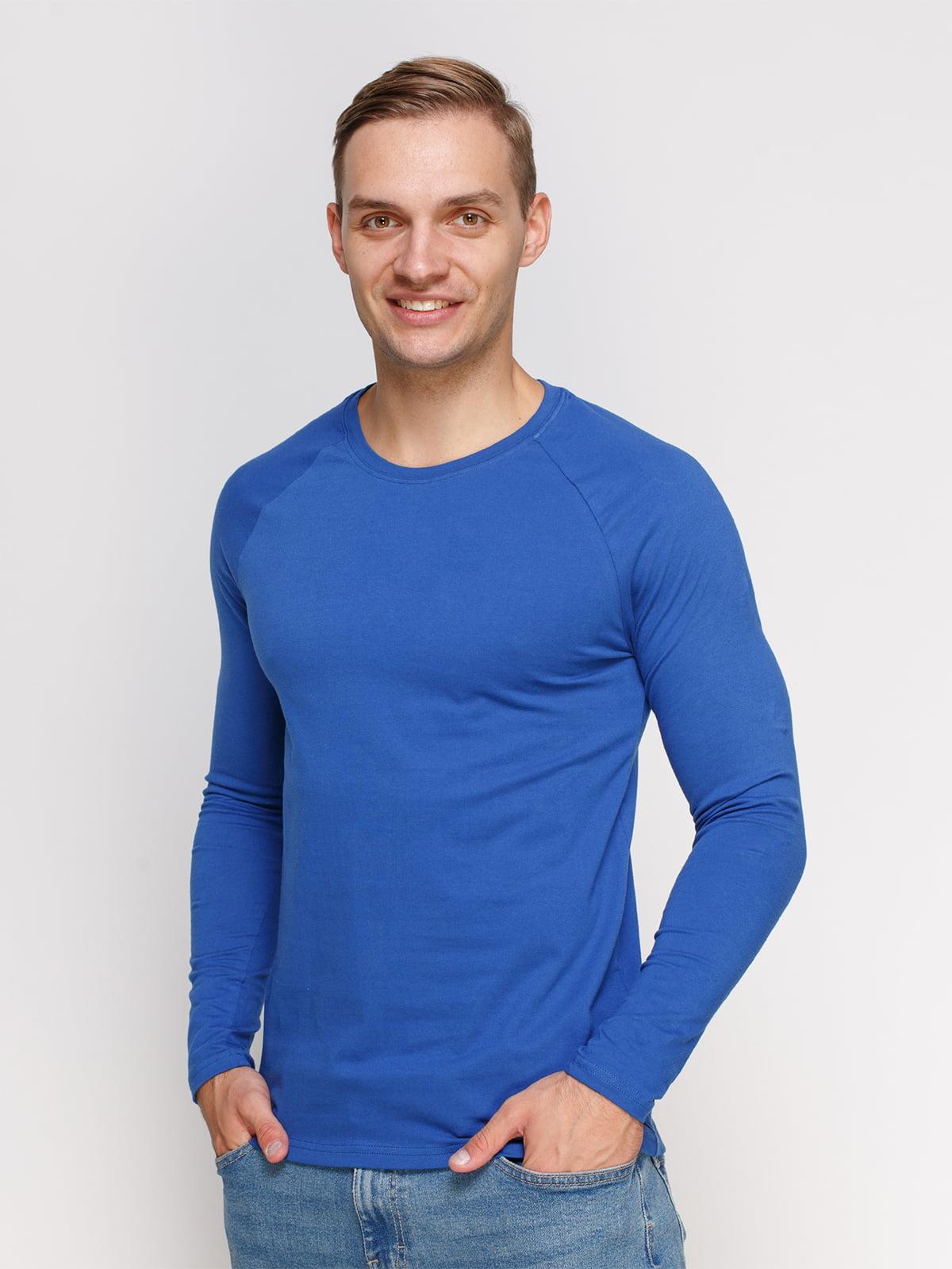 Лонгслив синий | 4577841