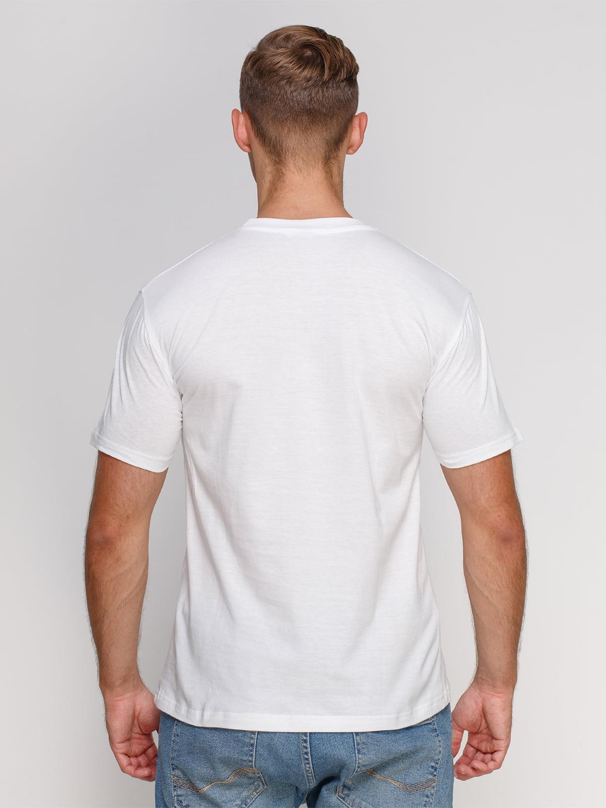 Футболка біла з принтом | 4577868 | фото 2