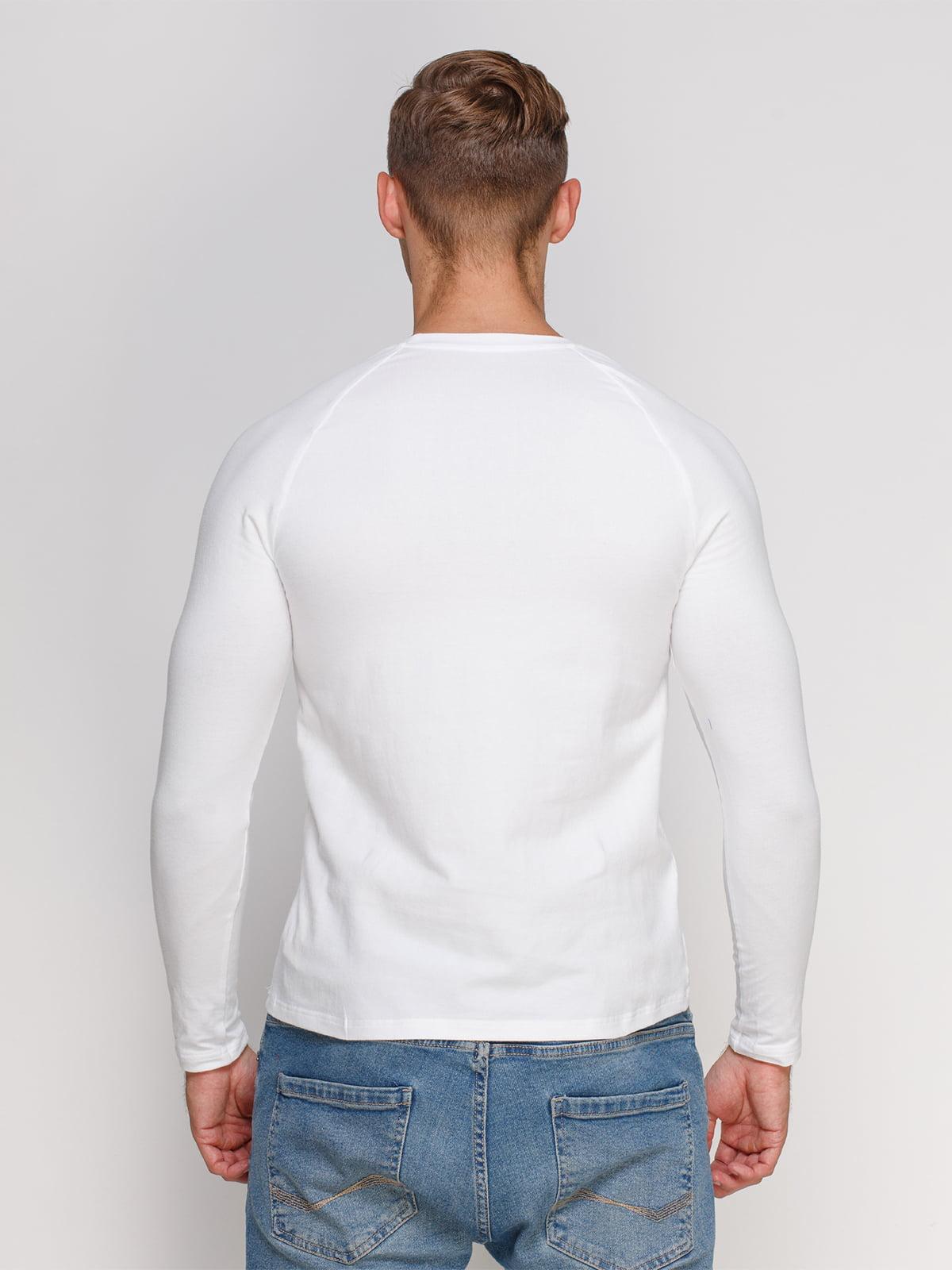 Лонгслів білий з принтом | 4578400 | фото 2