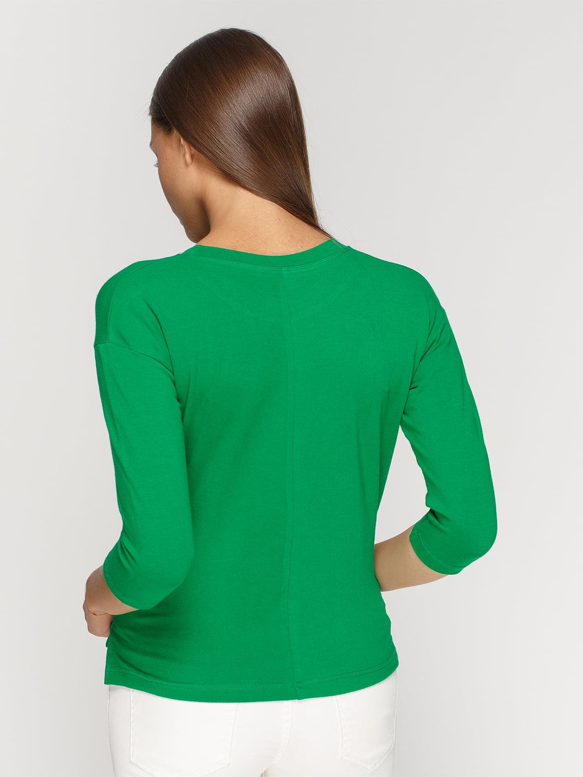 Лонгслів зелений з принтом | 4578159 | фото 2