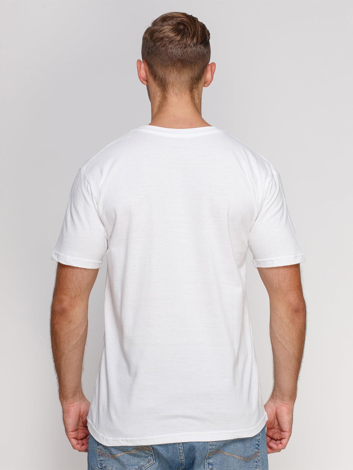Футболка біла з принтом | 4577869 | фото 2