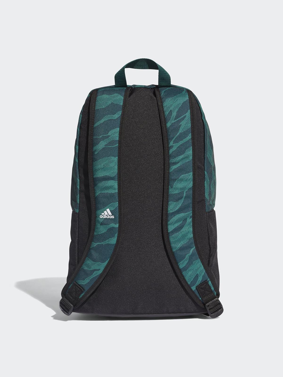 b627007c6dec Рюкзак черно-зеленый с принтом — Adidas, акция действует до 28 ...