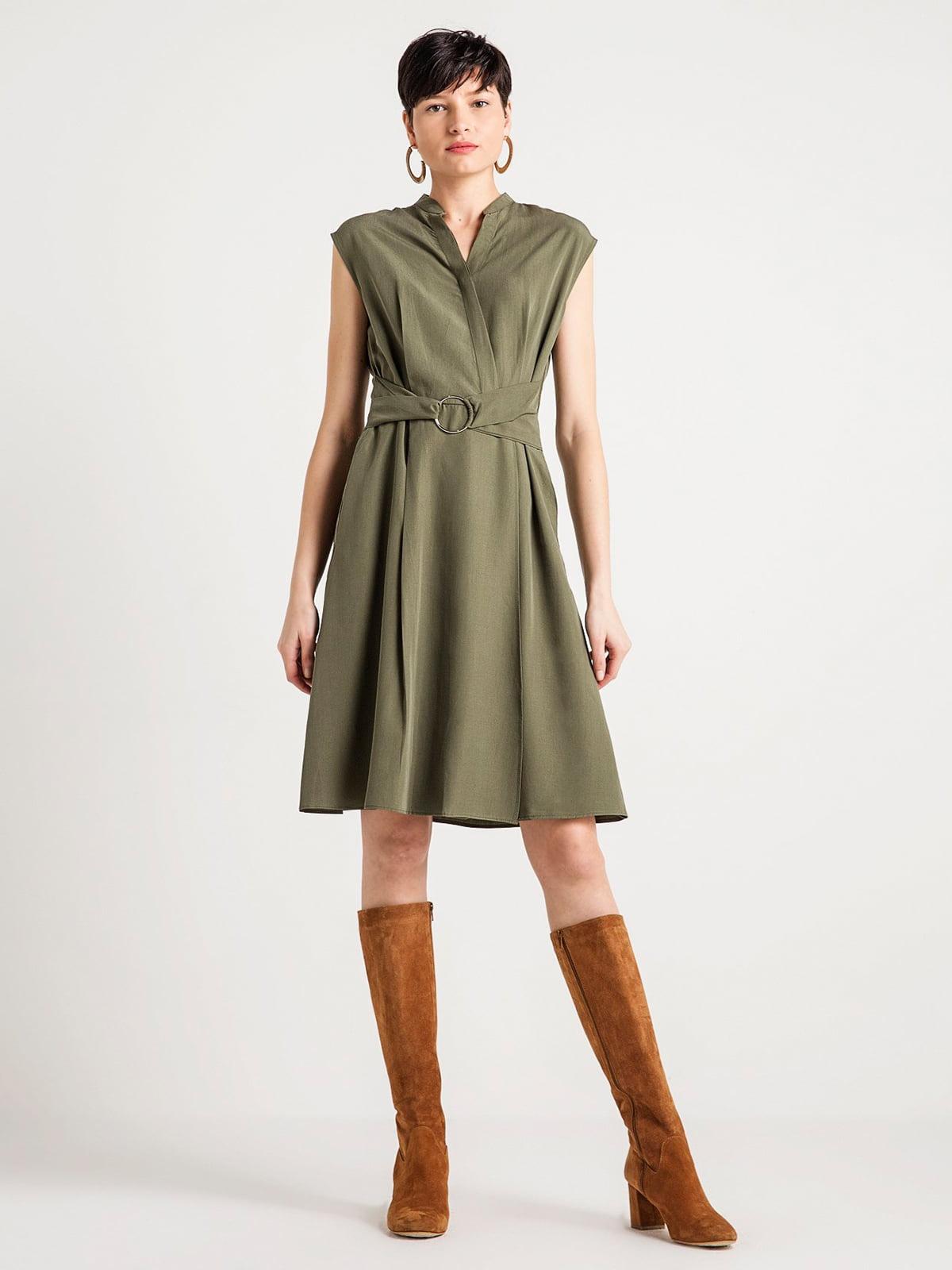 Сукня кольору хакі | 4584035