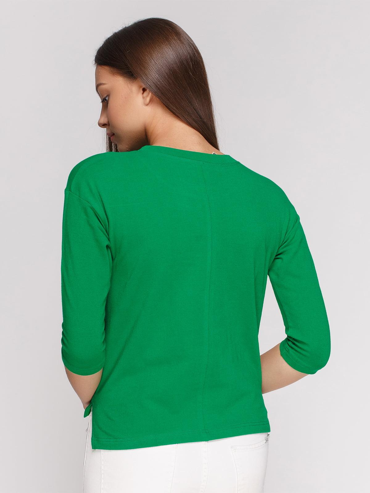 Лонгслив зеленый с принтом | 4578154 | фото 2
