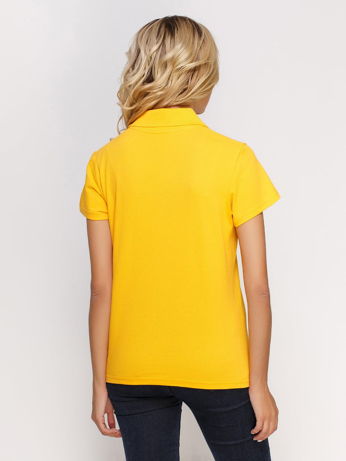Футболка-поло жовта з принтом | 4578610 | фото 2
