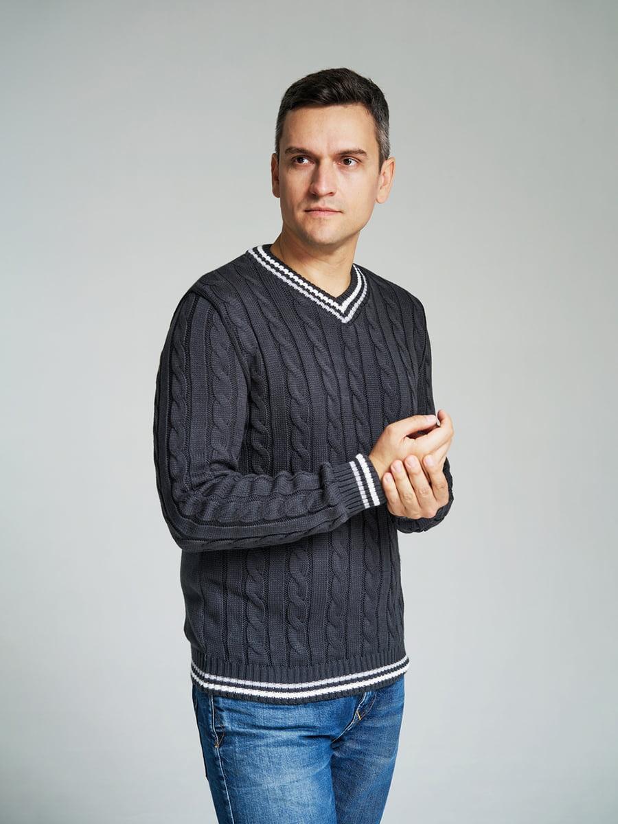 Пуловер сірий | 4585869