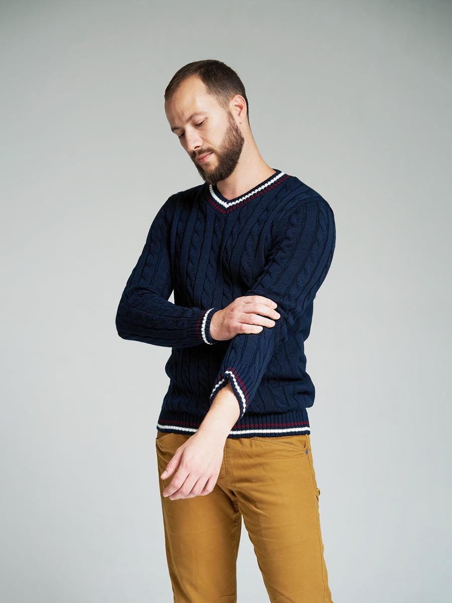 Пуловер темно-синий | 4585870