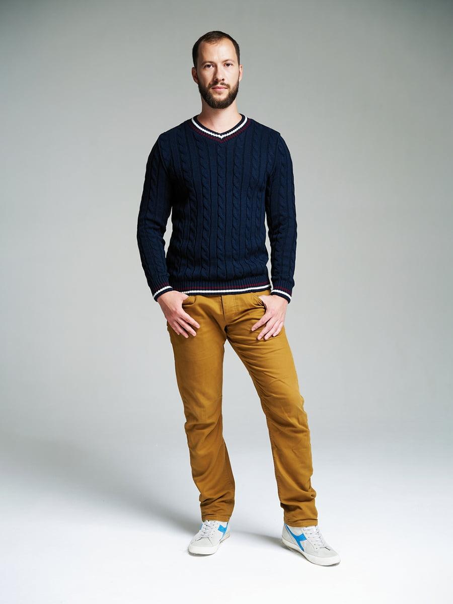 Пуловер темно-синий | 4585870 | фото 2