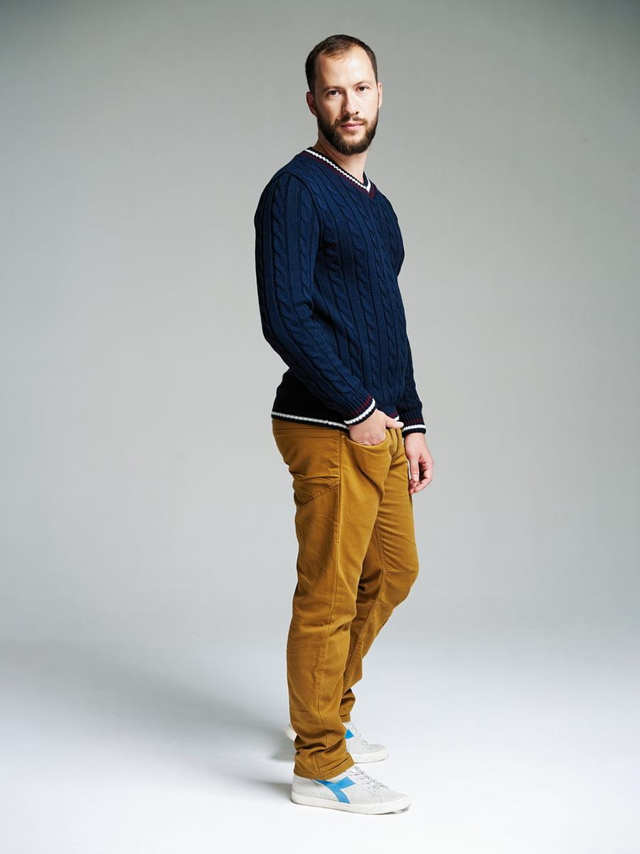 Пуловер темно-синий | 4585870 | фото 3