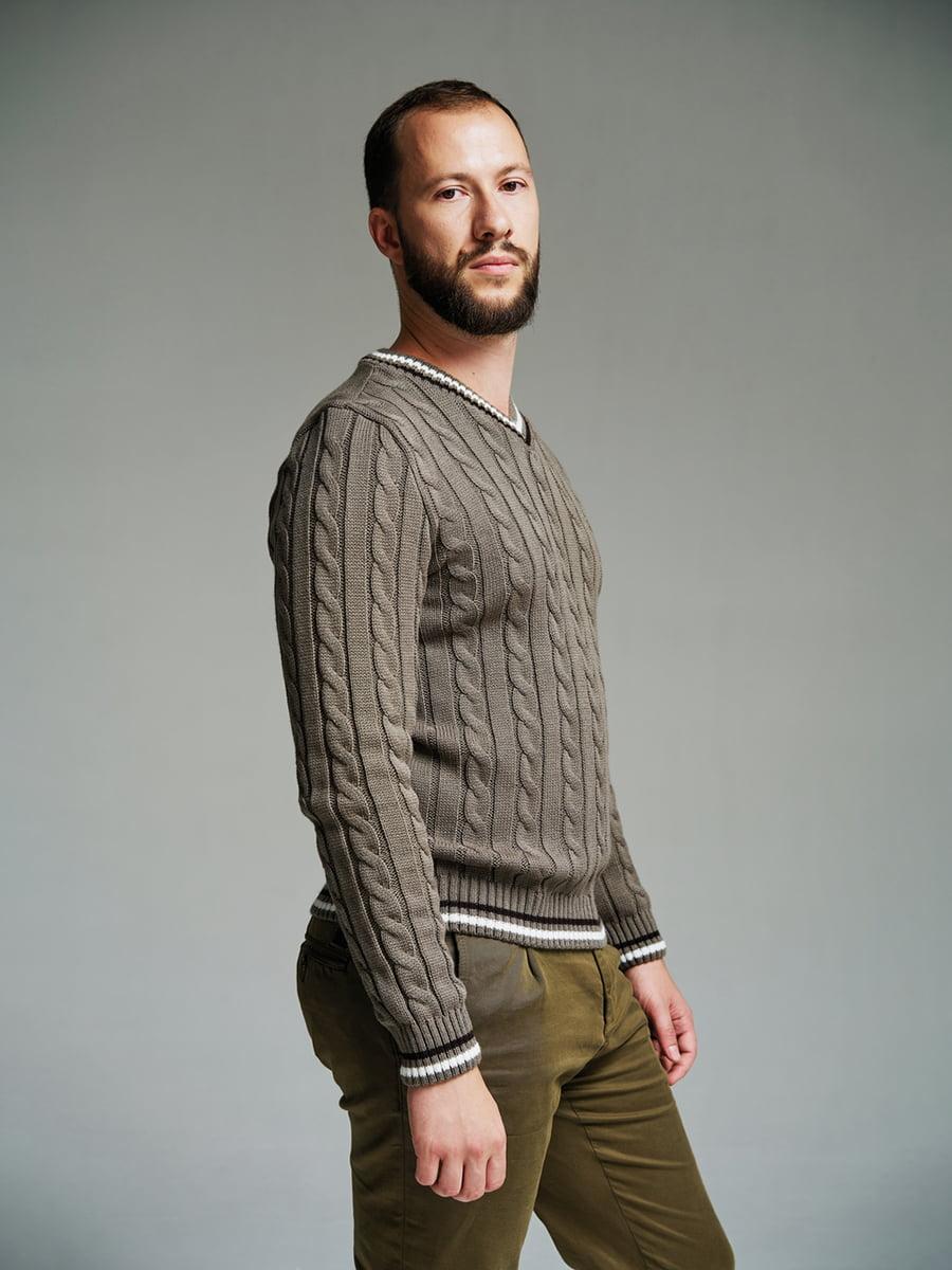 Пуловер кольору капучино | 4585871