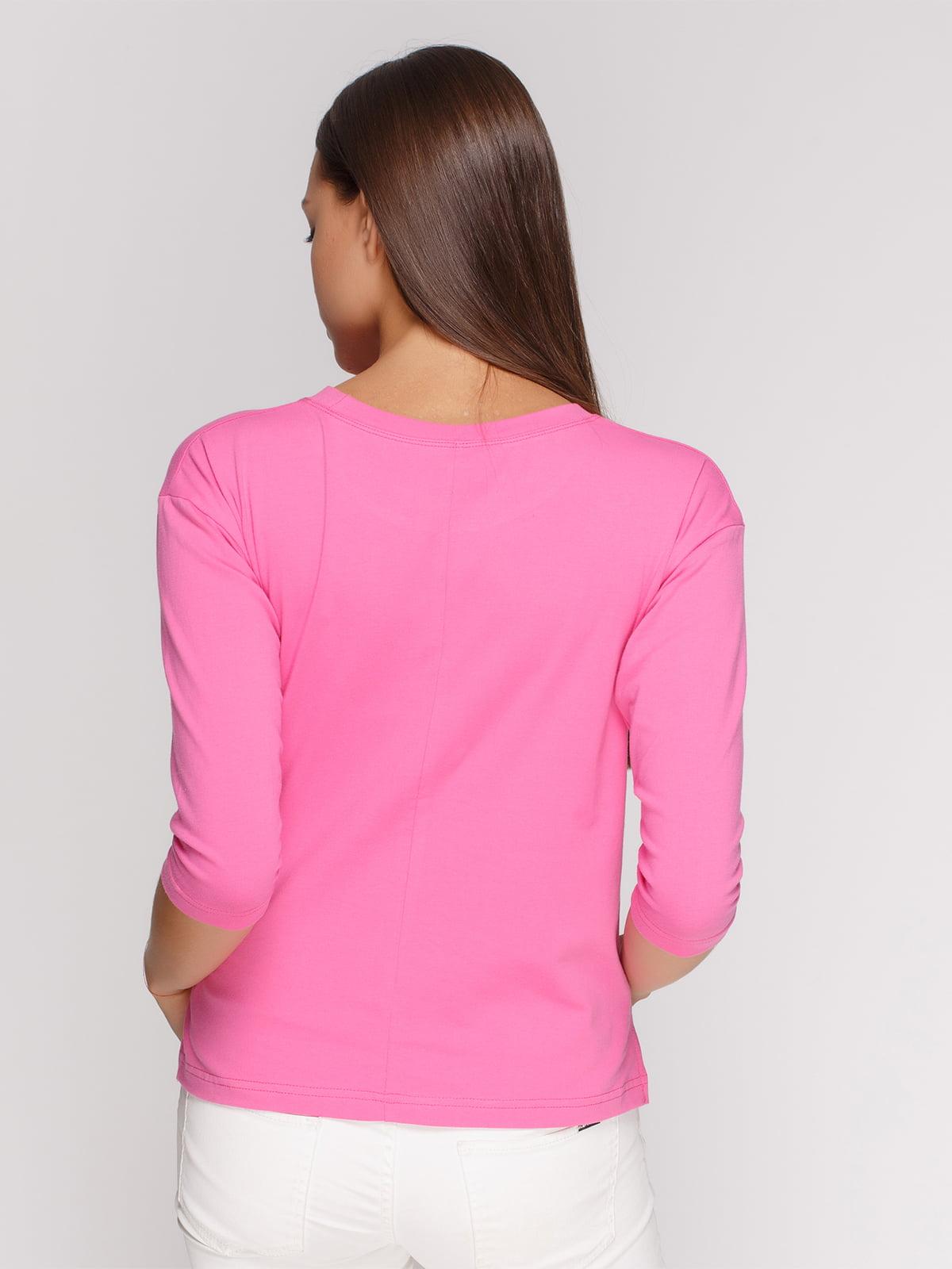 Лонгслів рожевий з принтом | 4578146 | фото 2