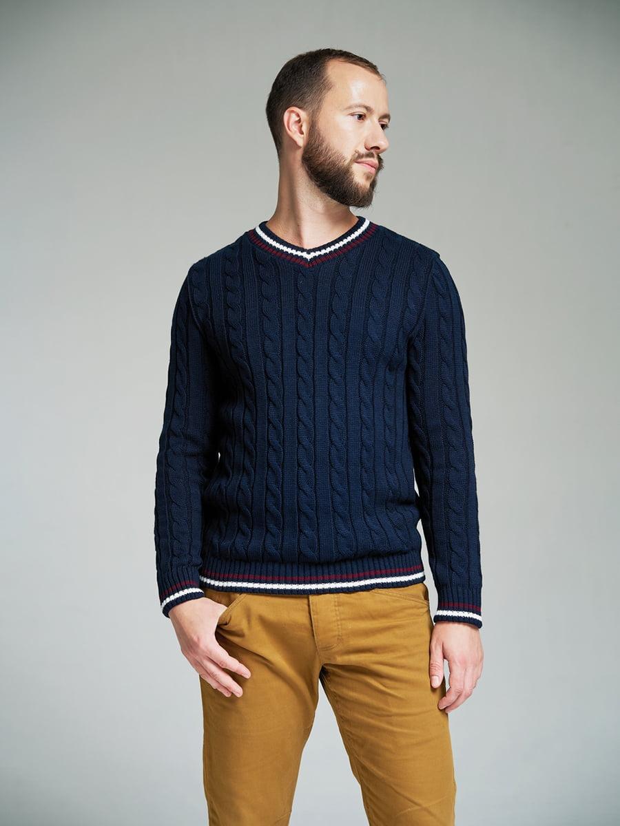 Пуловер темно-синий | 4585870 | фото 4