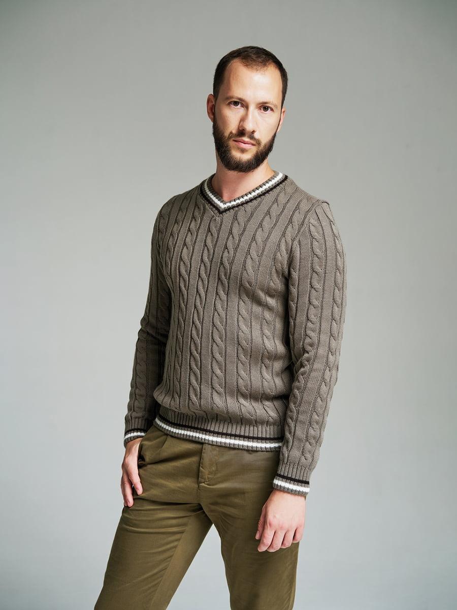 Пуловер кольору капучино | 4585871 | фото 4
