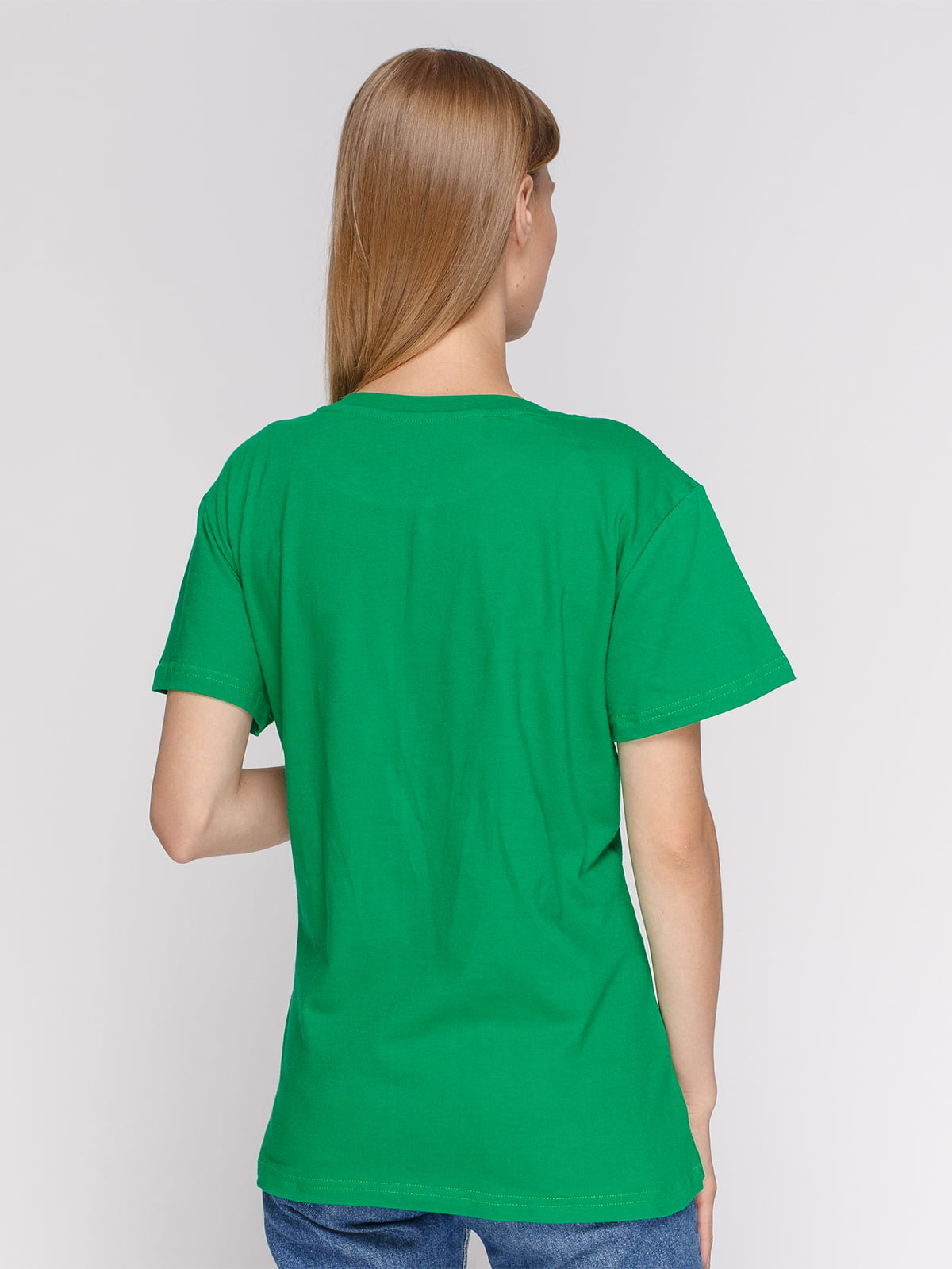 Футболка зелена з принтом | 4577867 | фото 2