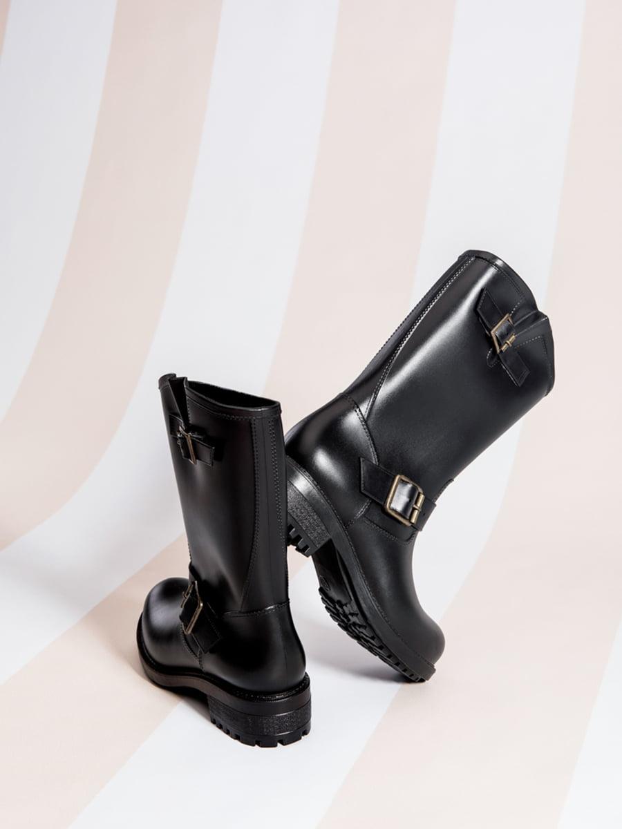 Сапоги резиновые черные | 4587726 | фото 3