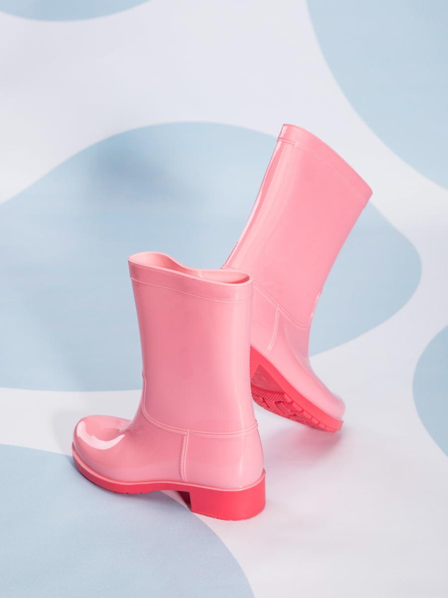 Сапоги резиновые розовые | 4587730 | фото 4