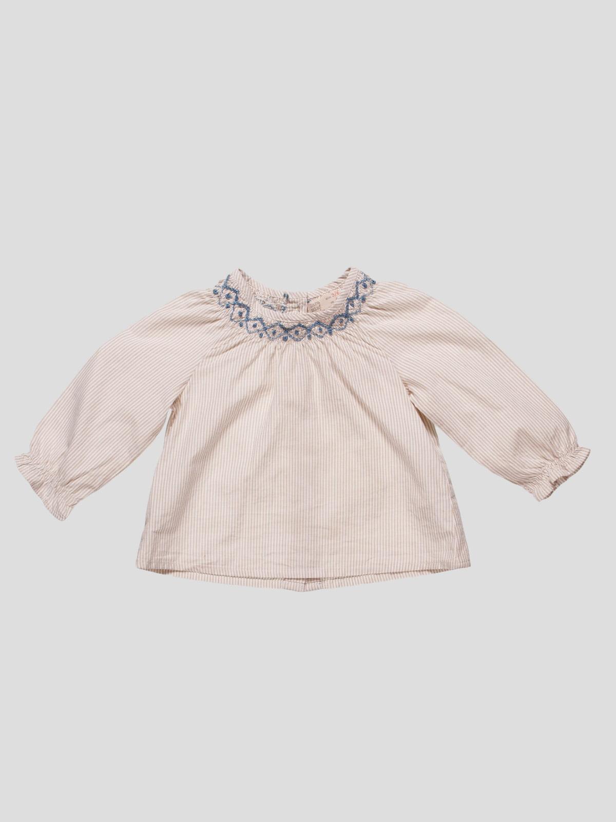 Блуза бежевая в полоску   4520385