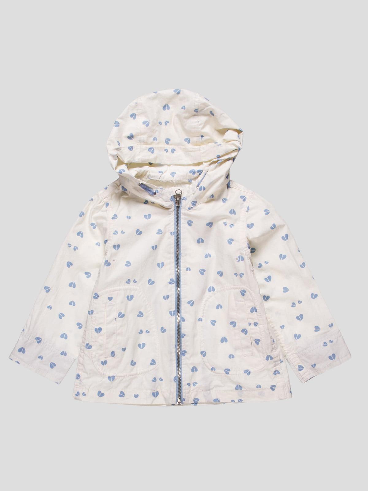 Куртка белая в принт | 4524162