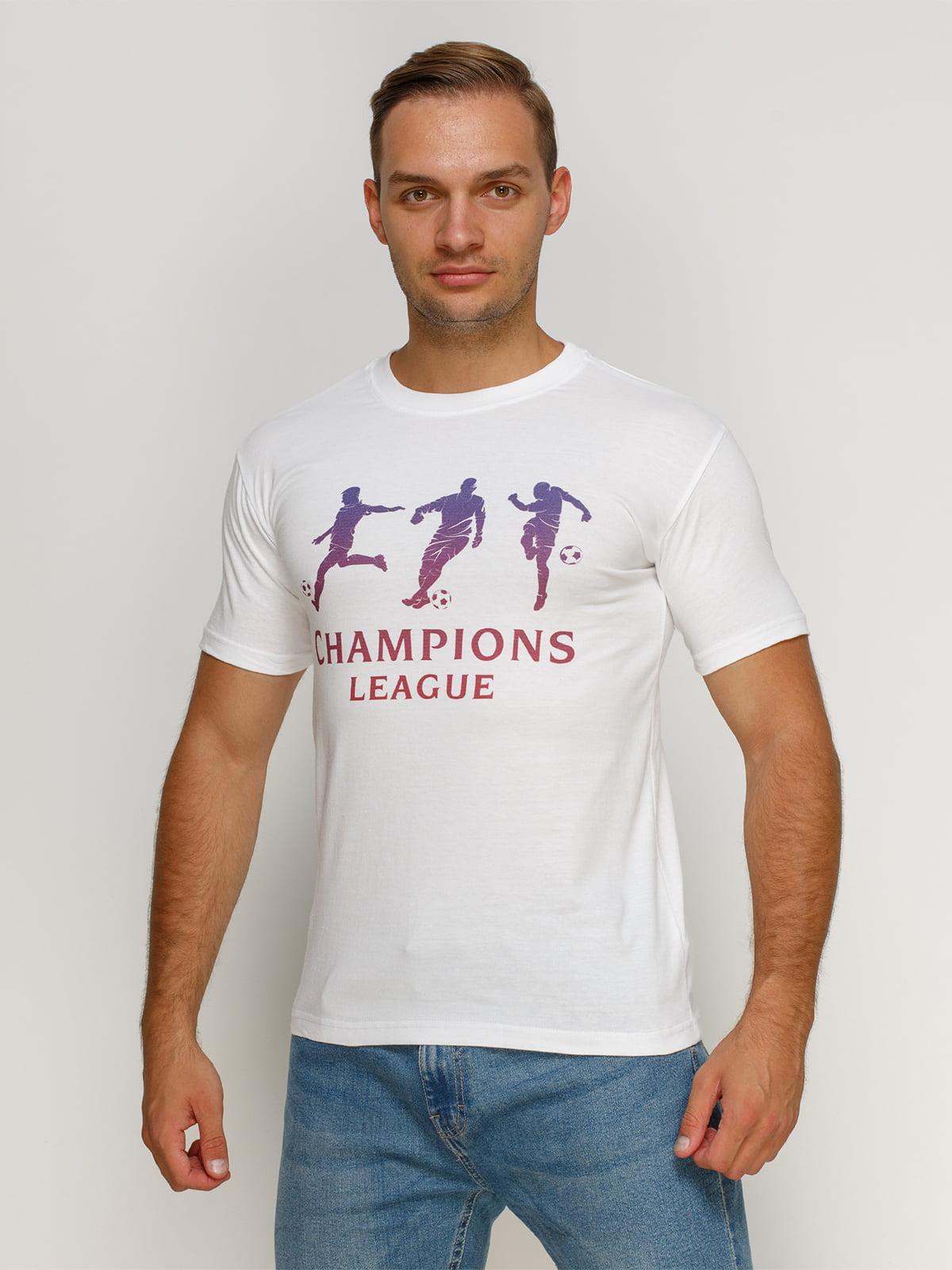 Футболка белая с принтом | 4577905