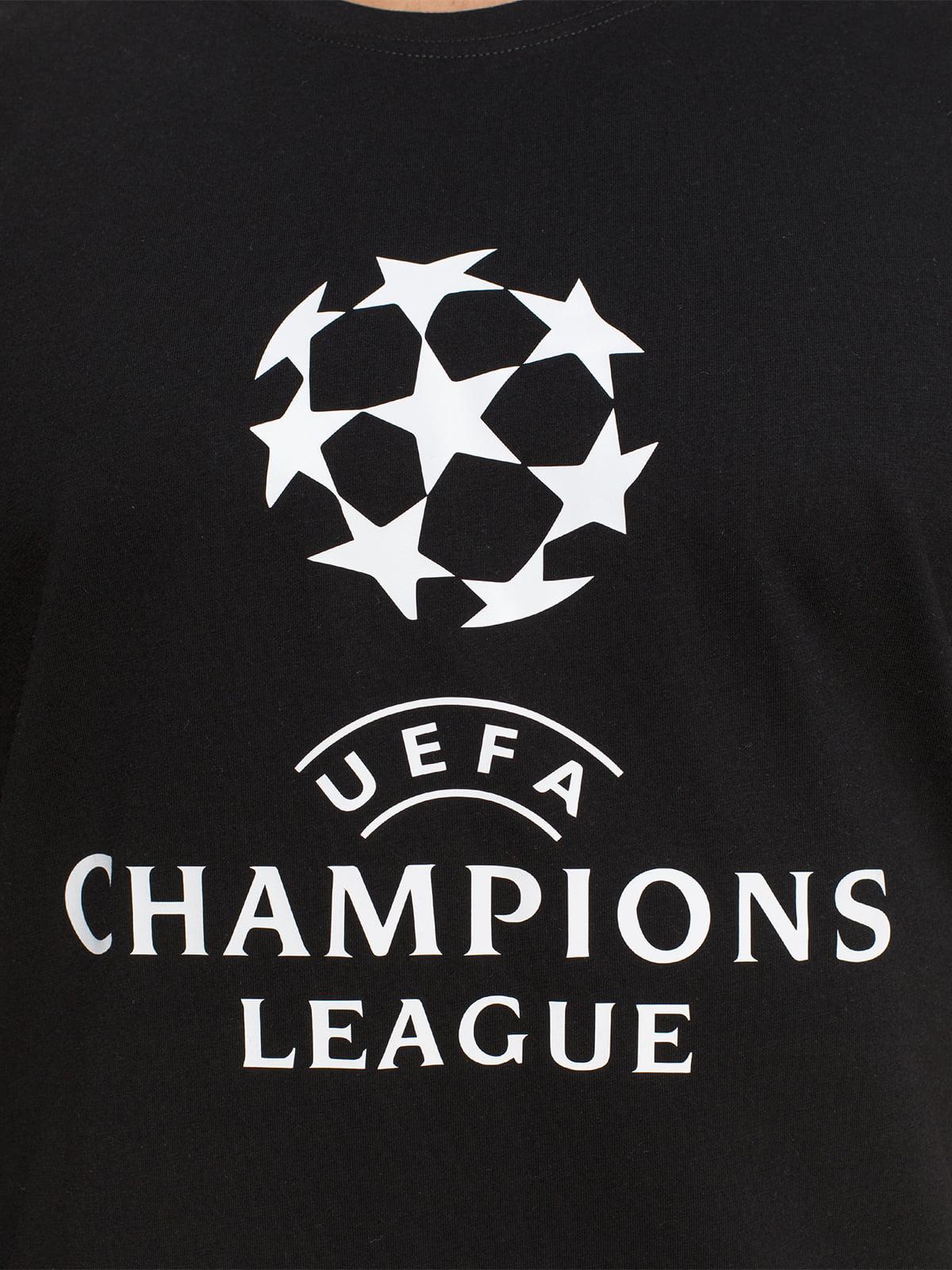 Футболка чорна з принтом   4577907   фото 3