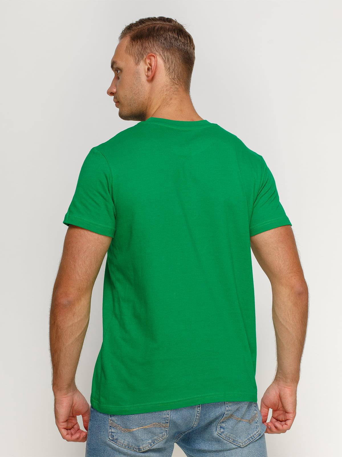 Футболка зелена з принтом | 4577897 | фото 2