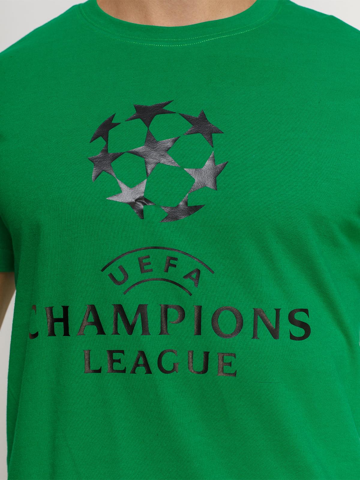 Футболка зелена з принтом | 4577897 | фото 3