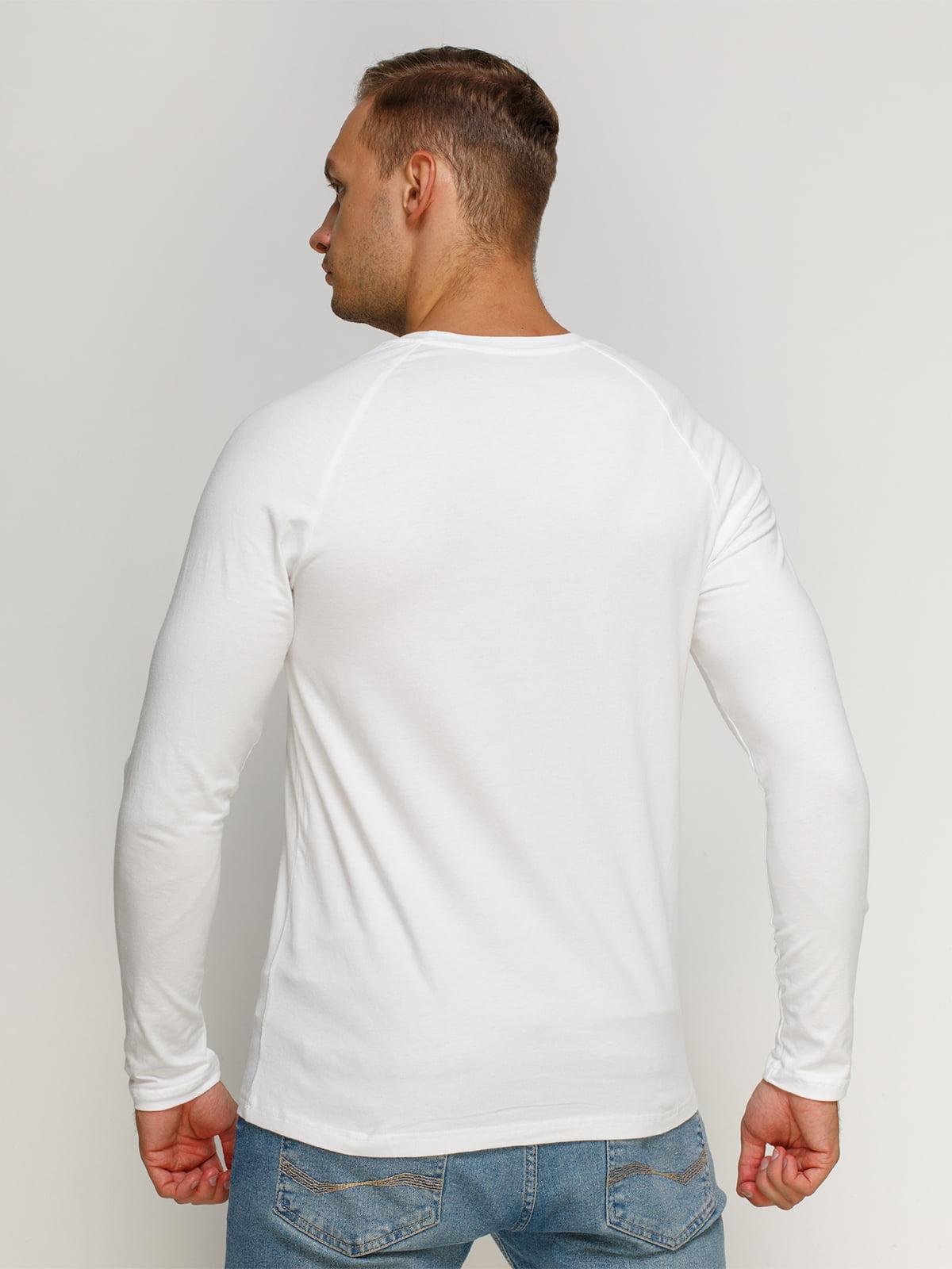 Лонгслів білий з принтом | 4578405 | фото 2