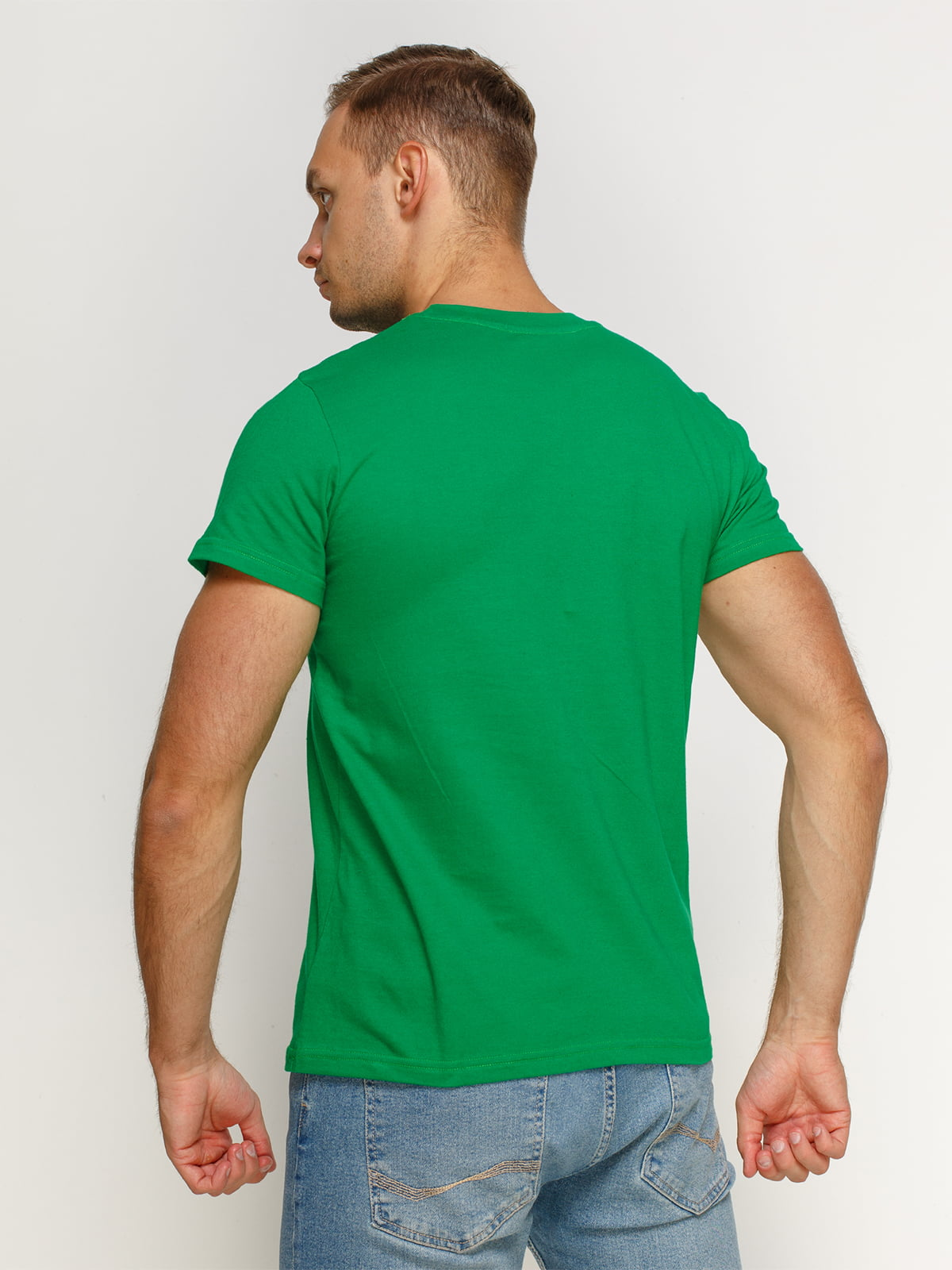 Футболка зеленая с принтом | 4577978 | фото 2