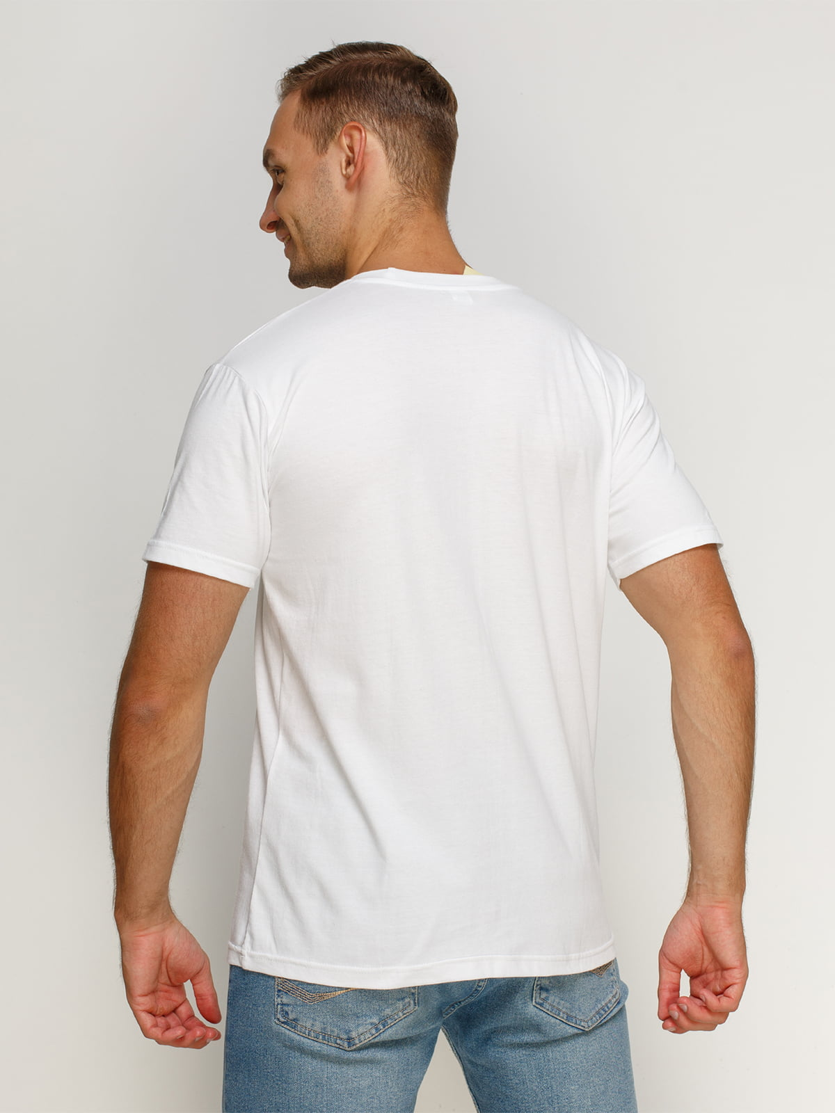 Футболка біла з принтом | 4578375 | фото 2