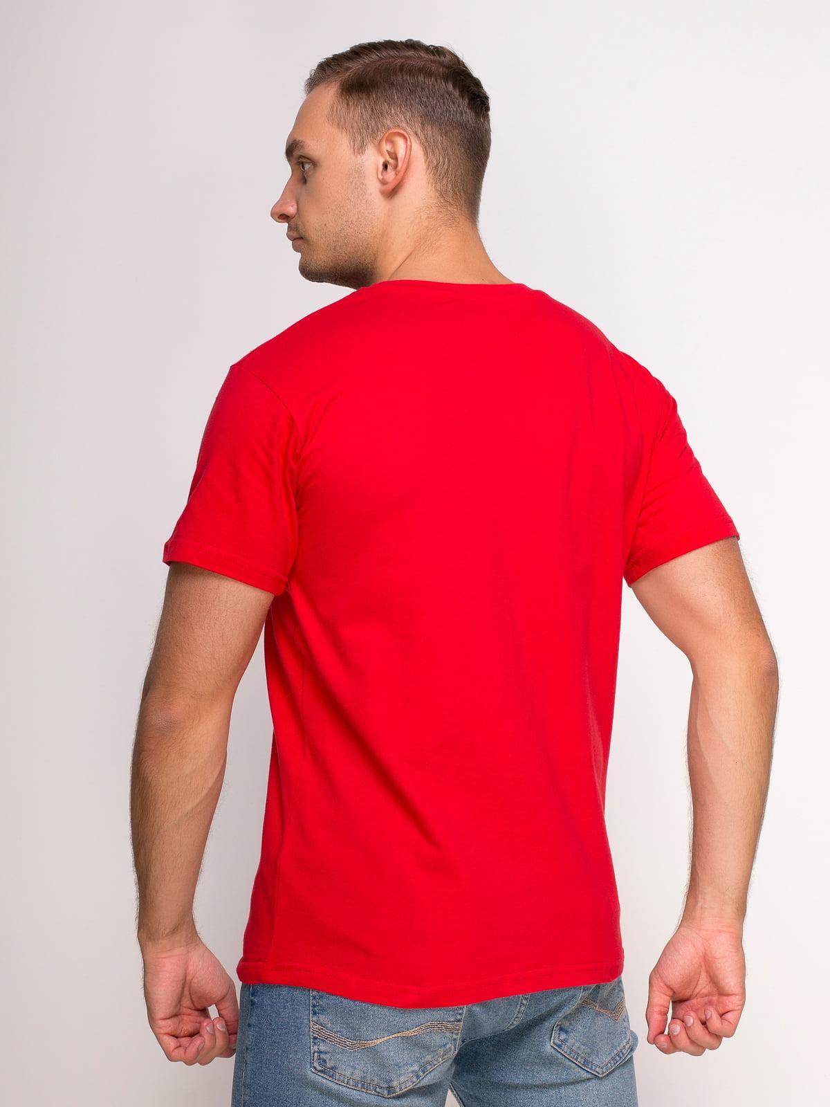 Футболка червона з принтом | 4583090 | фото 2
