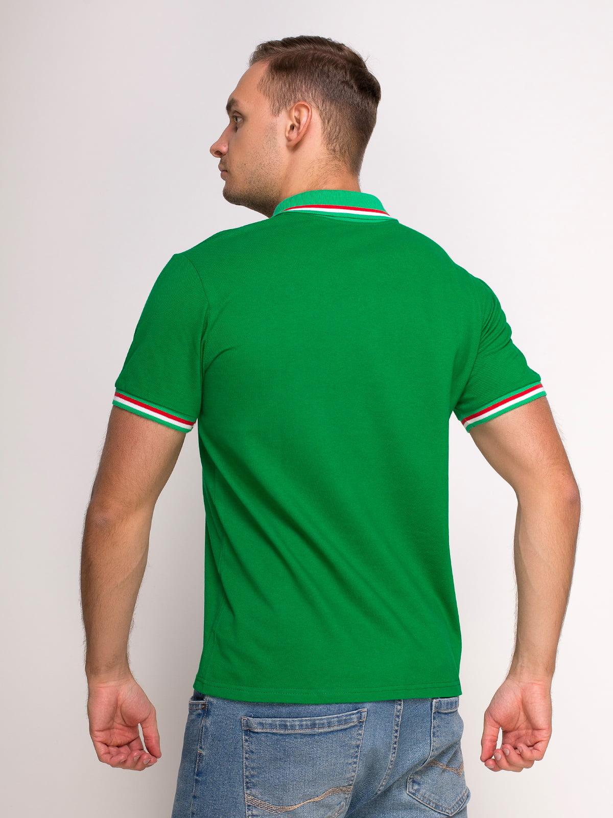 Футболка-поло зелена з принтом | 4583045 | фото 2