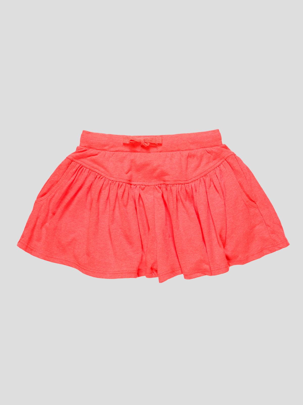 Шорты-юбка коралловые | 4506911