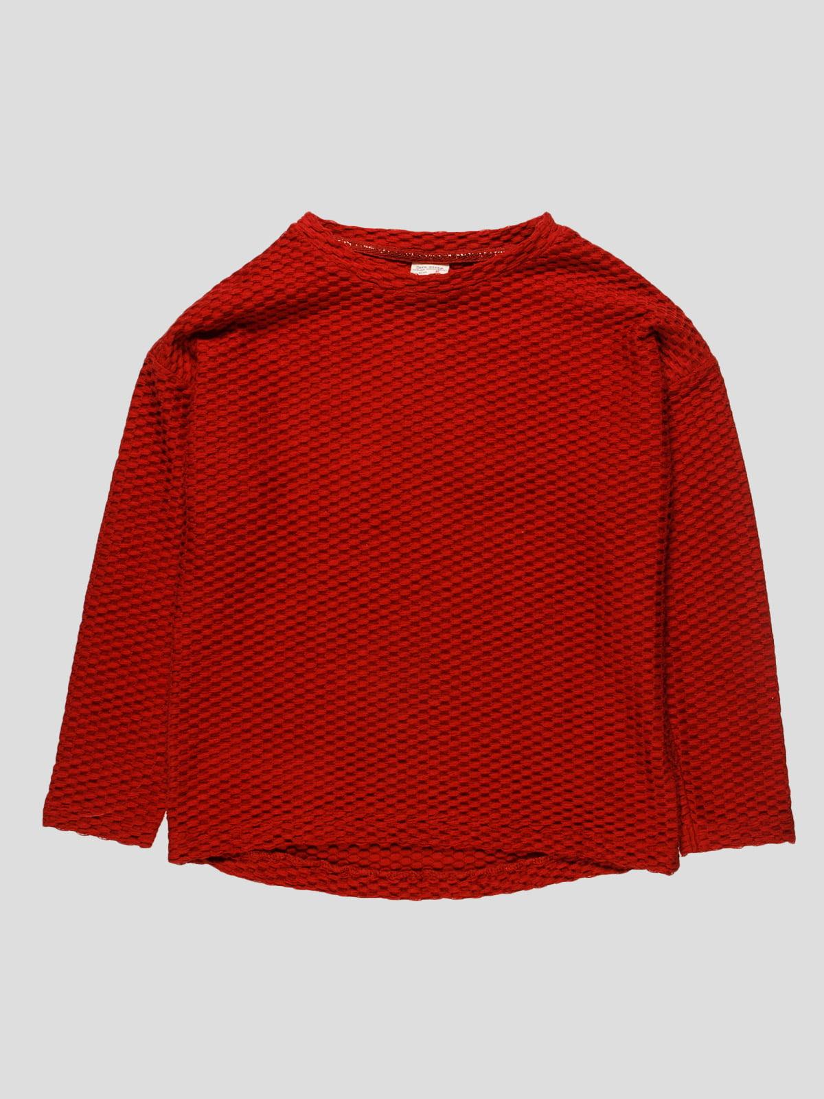 Джемпер красный   4523434