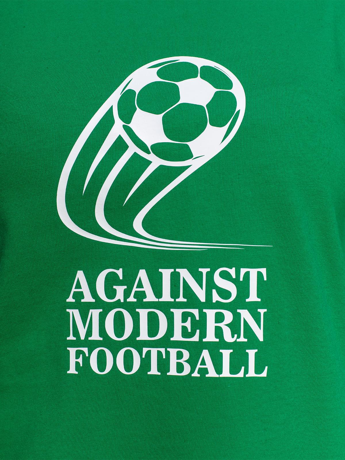 Футболка зелена з принтом   4590787   фото 3