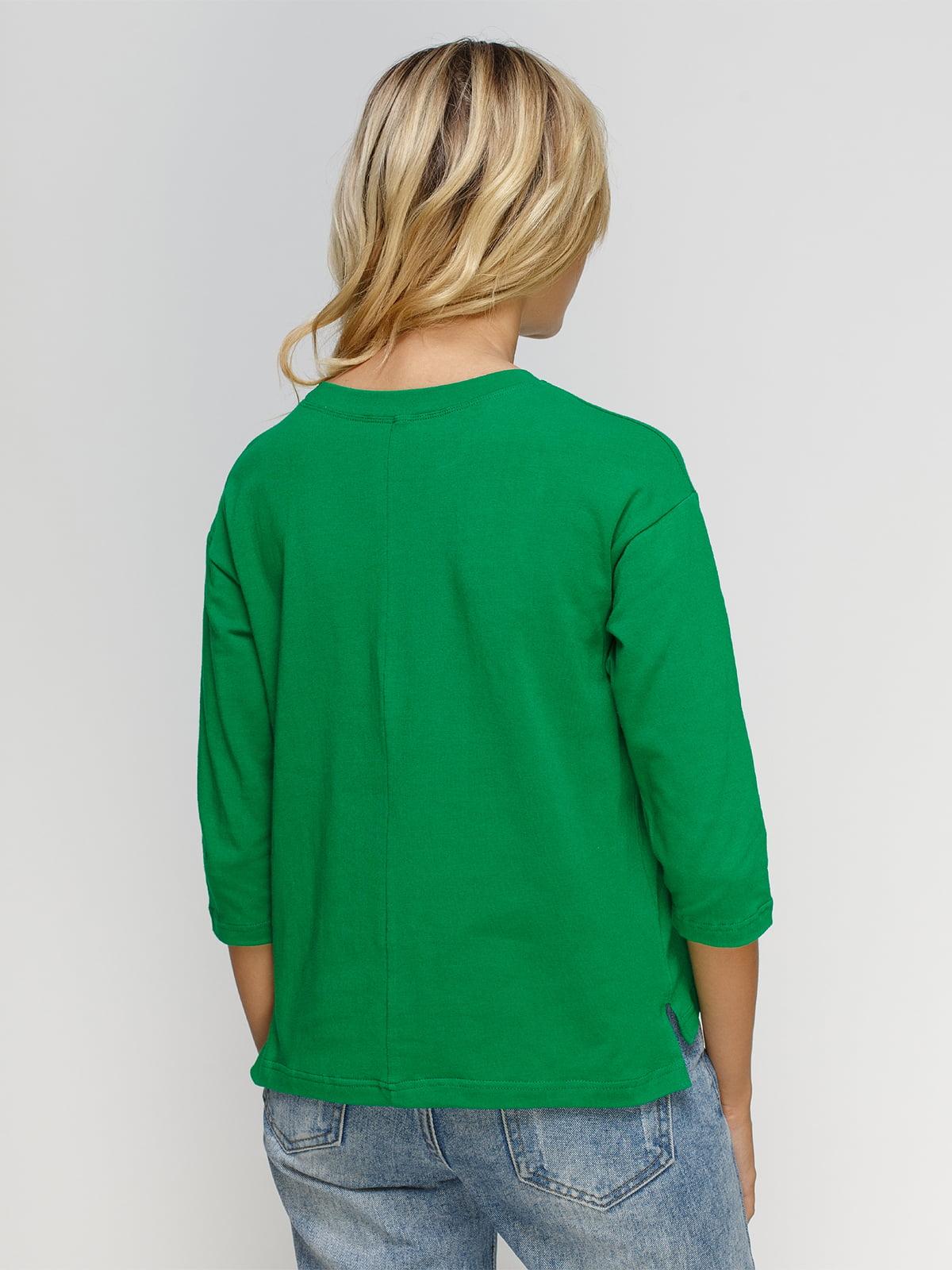Лонгслив зеленый | 4578310 | фото 2