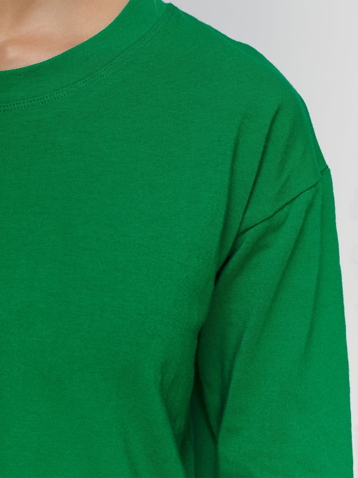 Лонгслив зеленый | 4578310 | фото 3