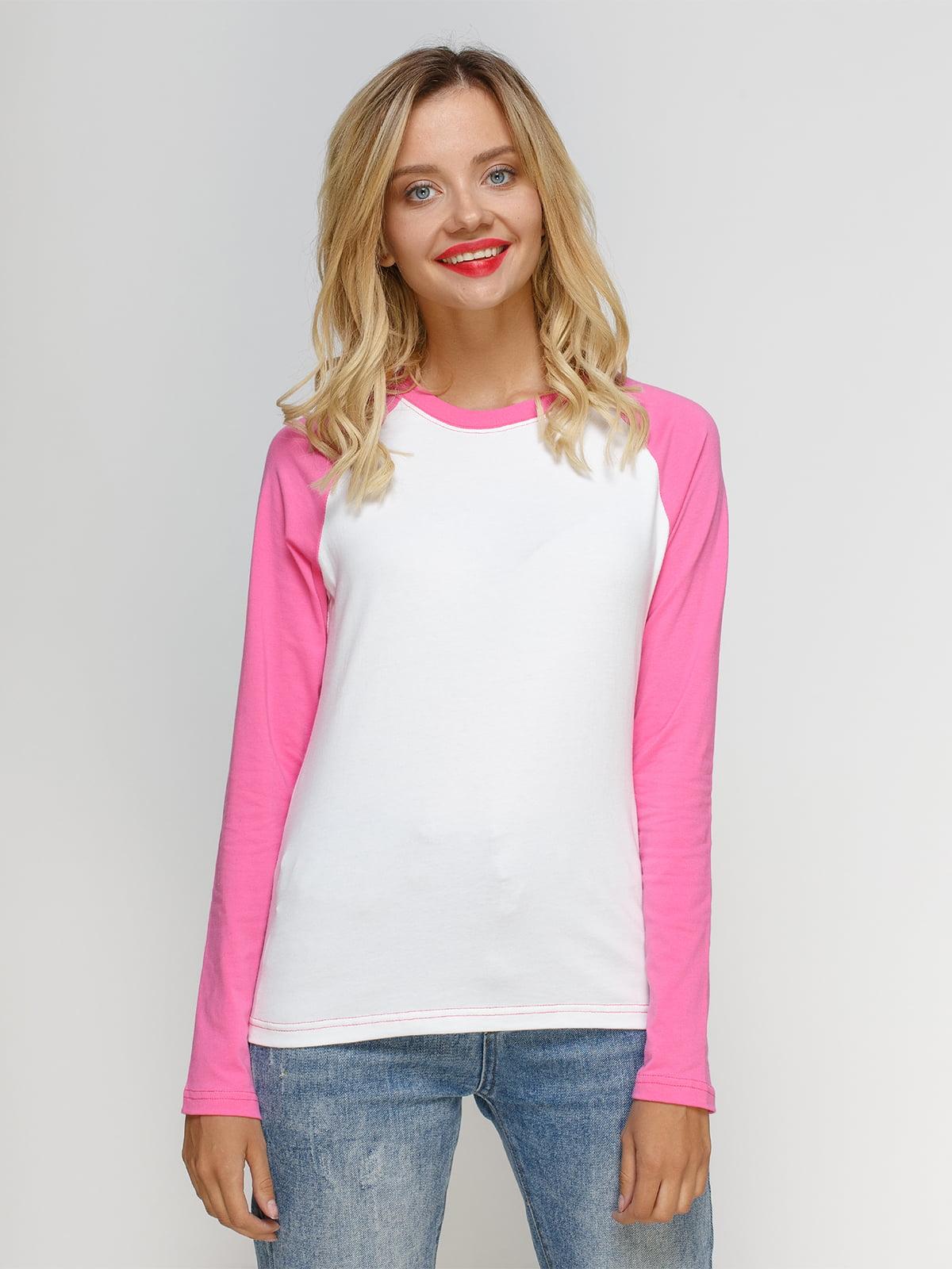 Реглан біло-рожевий   4577827