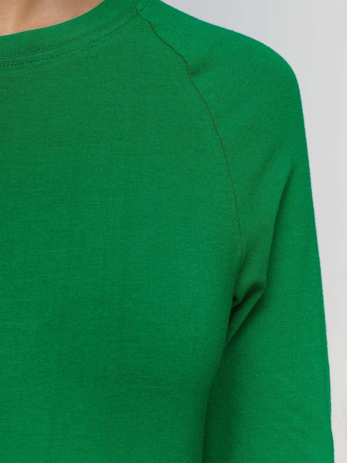 Лонгслів зелений | 4577821 | фото 3
