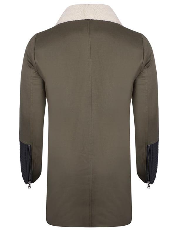 Пальто цвета хаки | 4592764 | фото 3