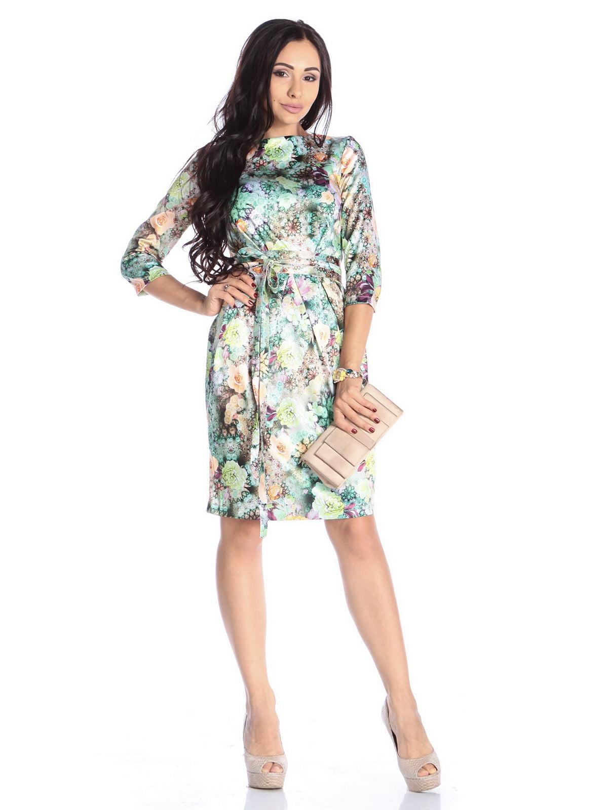 Платье в цветочный принт | 4592268