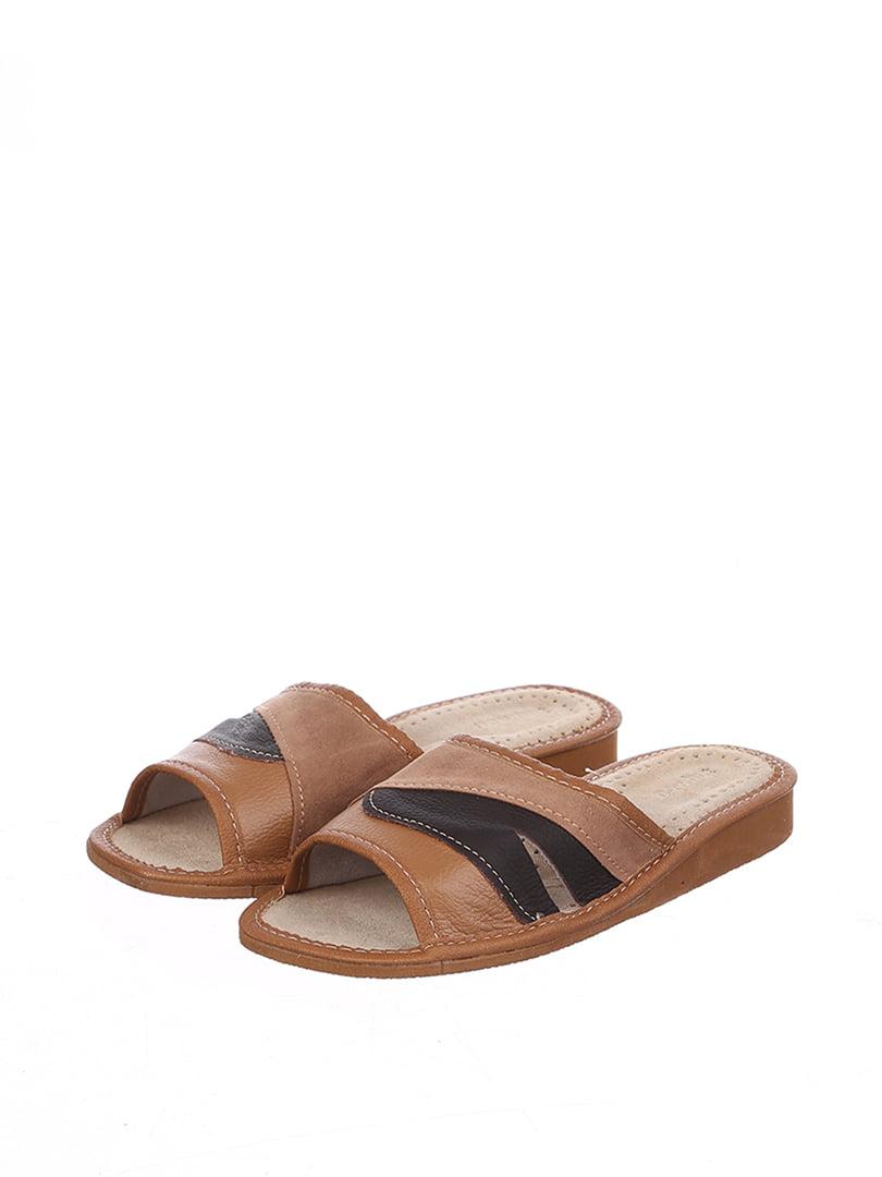 Тапочки коричневые | 4599436