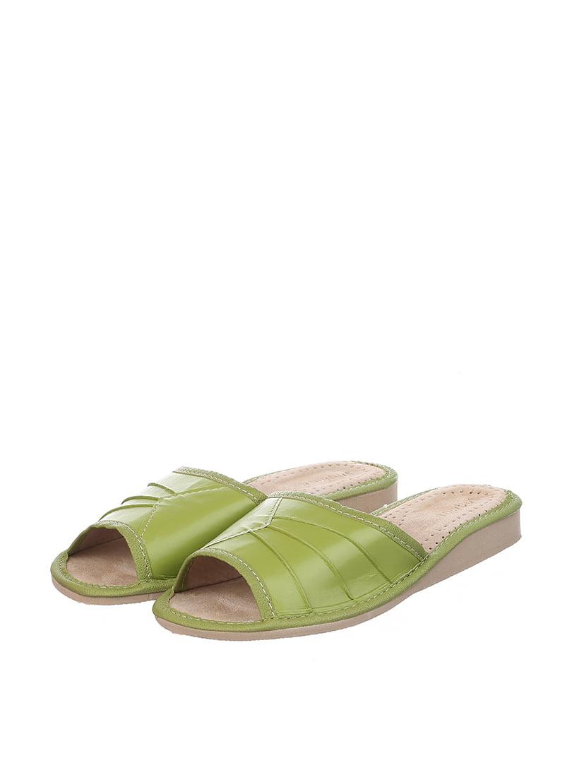 Тапочки зеленые   4599447