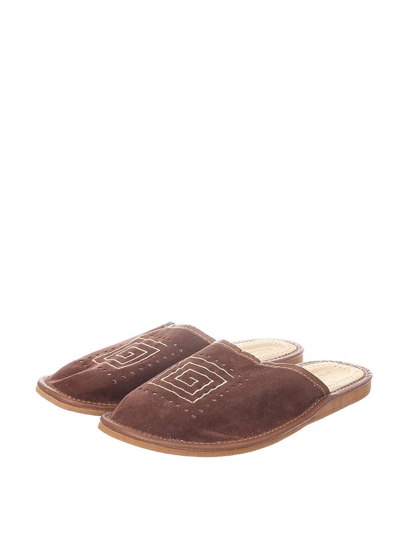 Тапочки коричневые | 4599513