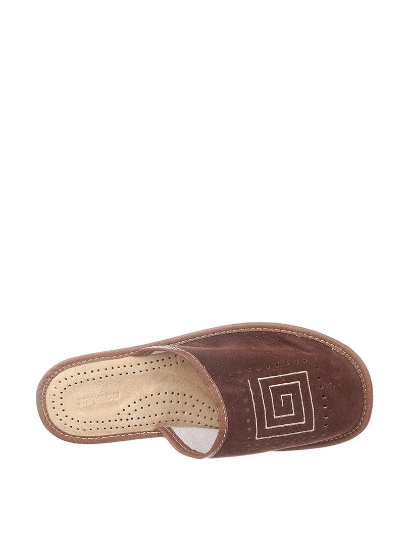 Тапочки коричневые | 4599513 | фото 2