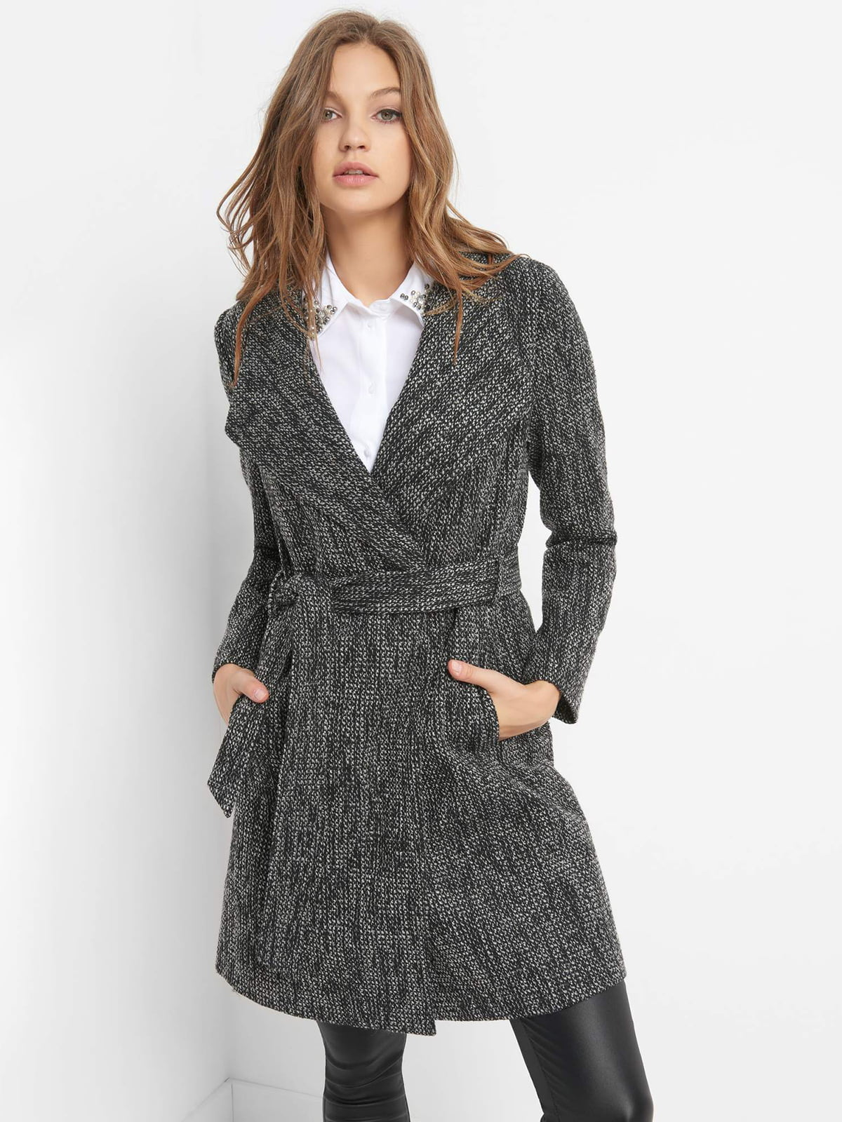 Пальто темно-серое   4580448