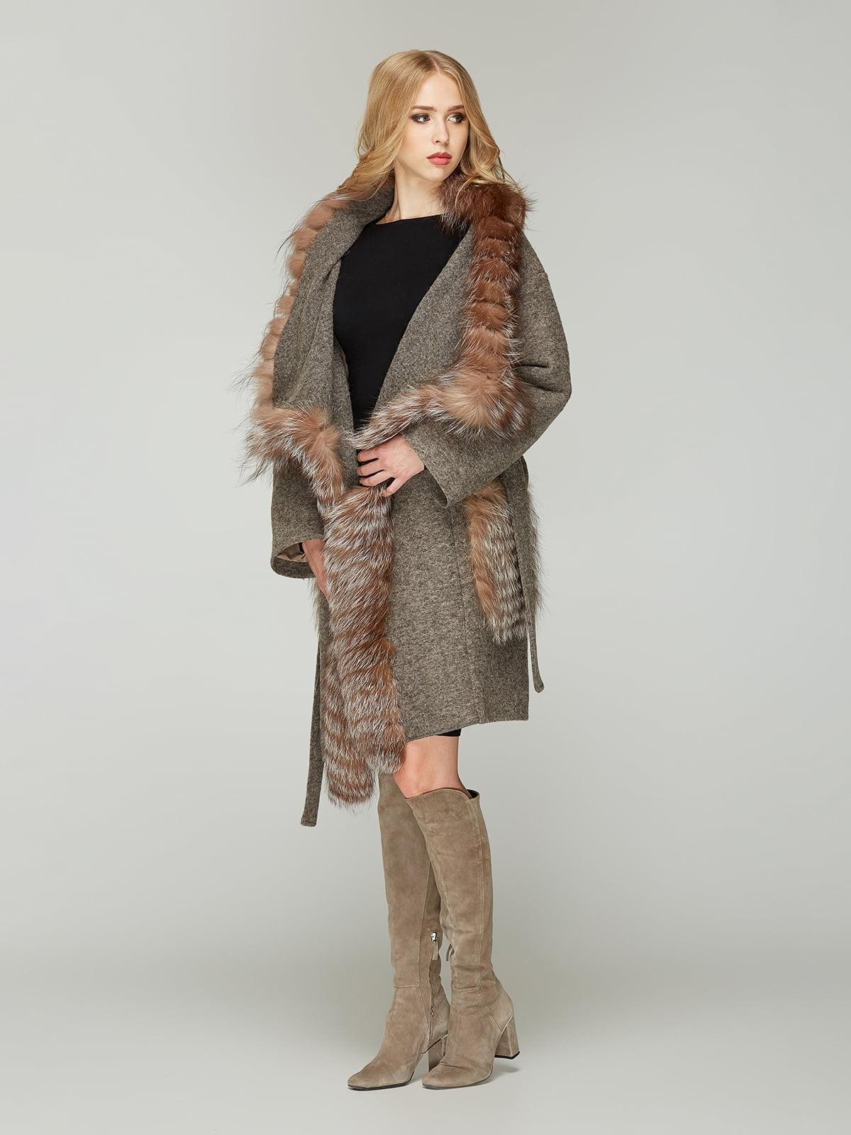 Пальто кольору капучино | 4603623