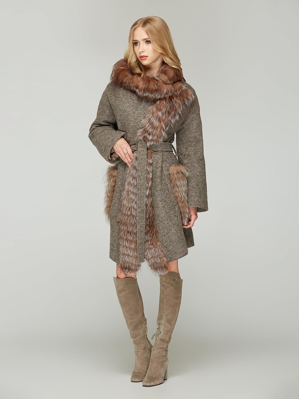 Пальто кольору капучино | 4603623 | фото 2