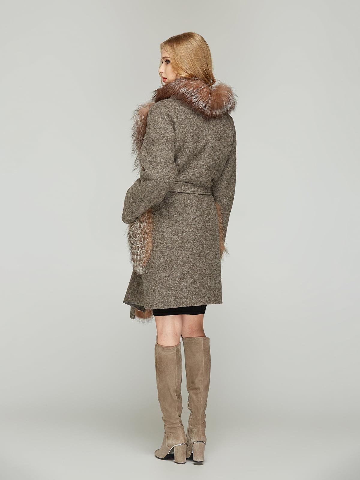 Пальто кольору капучино | 4603623 | фото 3
